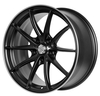 15 inch Alloy car rims 5X100 black machine face via jwl quality aluminum alloy car wheel