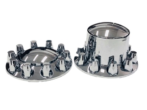 ABS Chrome front and rear axle wheel cover with 33mm removable nut covers