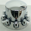 Chrome rear axle wheel cover with 33mm removable nut covers