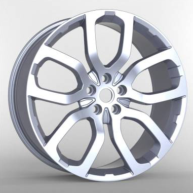 Silver 22 Inch Automobile Rims 20 Inch Replica Universal Wheels