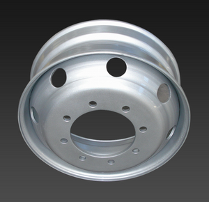 22.5*7.5 tubeless truck steel wheels with 8 hole
