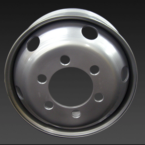 19.5*6.75 inch 6 hole tubeless truck steel wheels