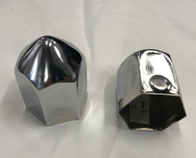 Wheel nut cover metal chrome inner hex38mm best selling for trcuk