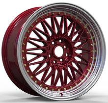 8/10 Inch Car Rims Alloy Wheel Red Machine Lip Car Rims